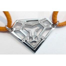 """Création bracelet cordon motif """"Tête de Lion Diamant"""" en OR et Diamants"""