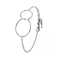Bracelet en Argent Massif et anneaux entrelacés