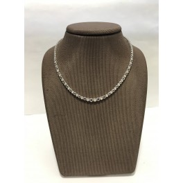 Collier Or blanc avec Saphirs et Diamants
