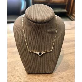 Collier Or jaune avec Saphir et Diamants