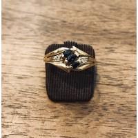 Bague Or jaune avec Saphirs et Diamants