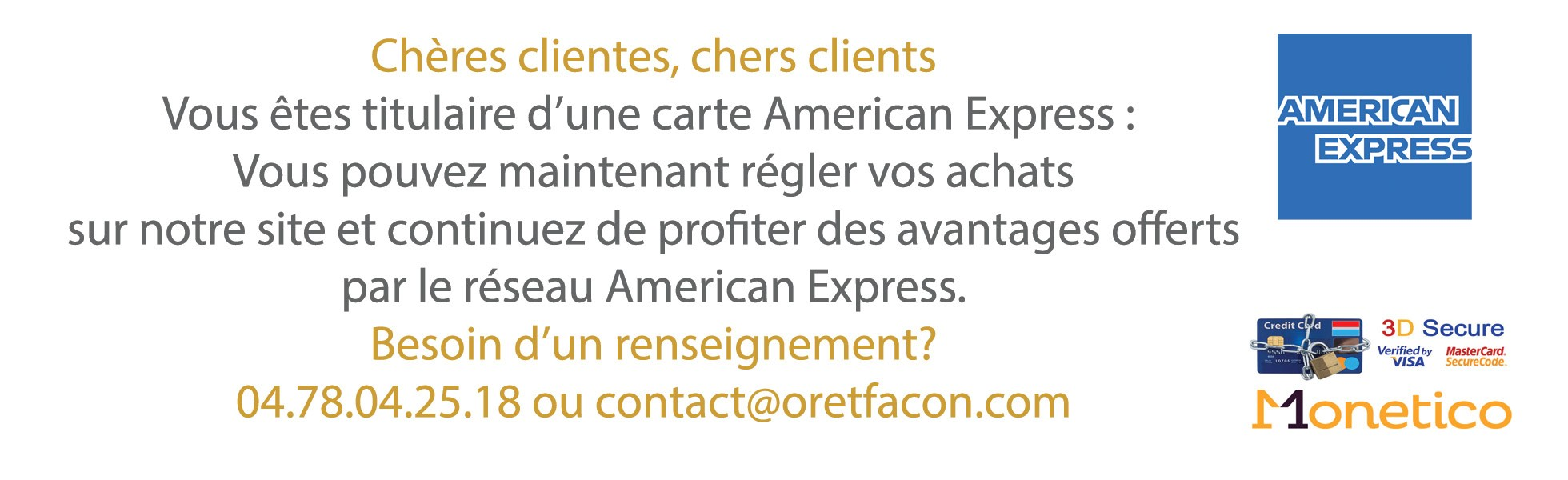 American express Or et façon